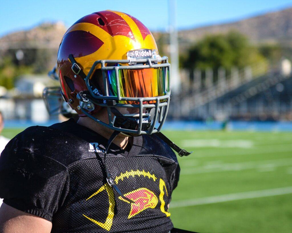 best football visor
